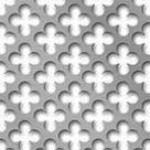 Цветок  Ширина 7 мм. Площадь отверстий 40%