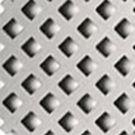 Малый ромб отверстие 3 мм х 3 мм. Ширина перемычки 2 мм. Площадь отверстий 36%